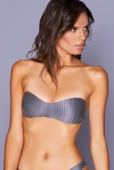 Antheia Silver Wave Top