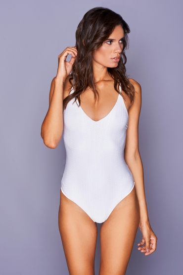 Idotea White Wave Swimsuit