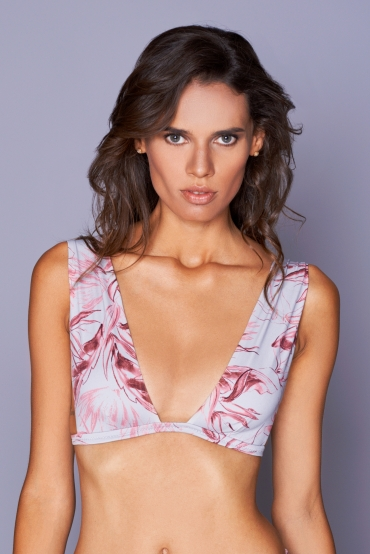 Clitia Grey Flower Top