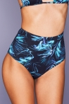 High-Waist Blue Flower Bottom