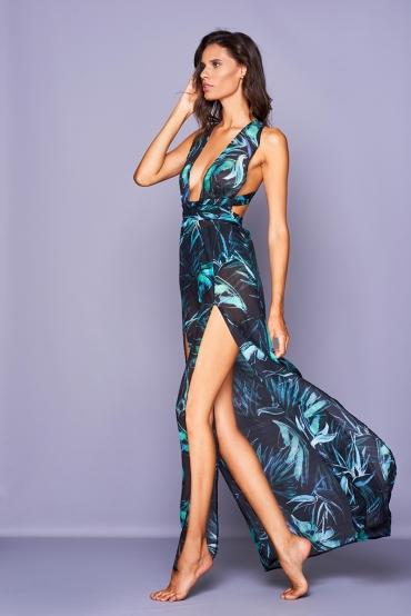 Afrodite Vestito Blue Flower