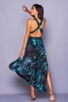 Afrodite Blue Flower Long Dress