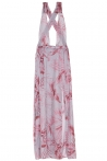 Afrodite Grey Flower Long Dress