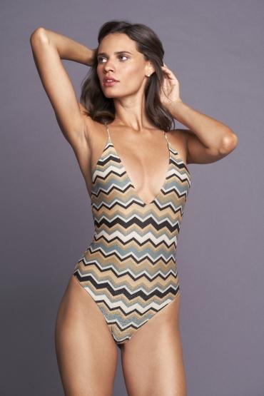 Idotea Swimsuit Gold Pattern