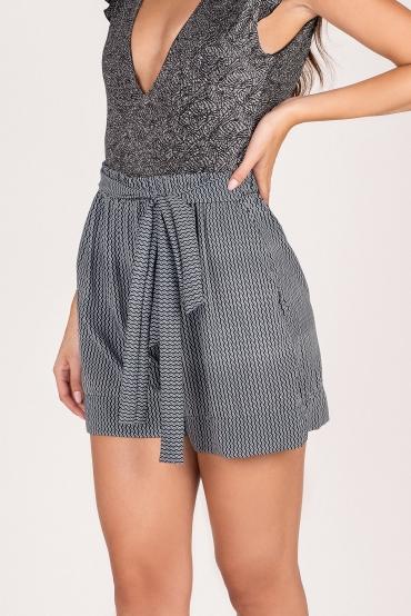 Zefiro Shorts Black Pattern