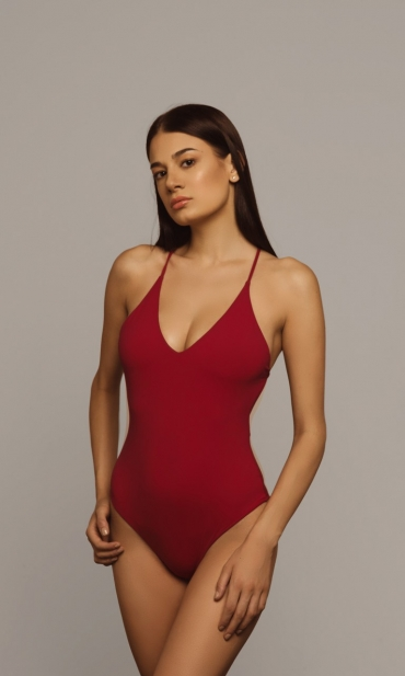Idotea Swimsuit Deep Red