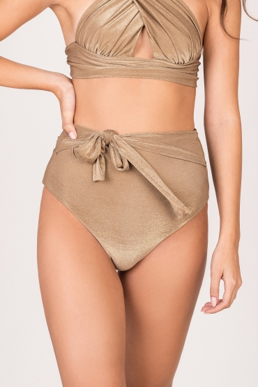 High Waist Bottom Gold