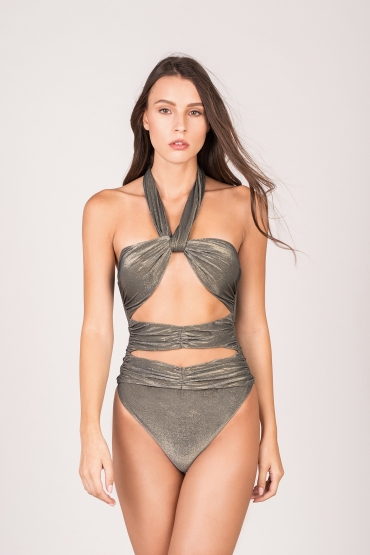 Aura Swimsuit Silver